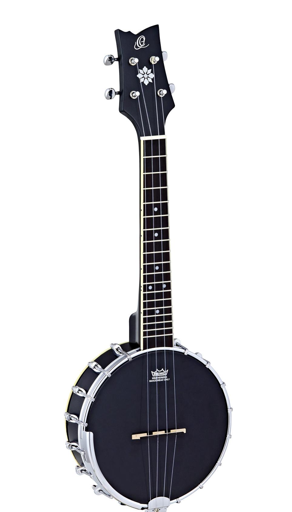 Ortega Raven Black Banjo Ukulele Uke Boutique
